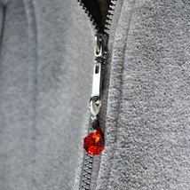 Crystal Octagon Zipper Pull - Color Varies image 5