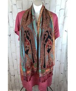 Collection XiiX Eighteen Paisley Tapestry Print Rayon Head Scarf Shawl - $20.00