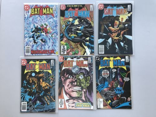 Lot of 12 Batman (1940) from #376-407 VF Very Fine