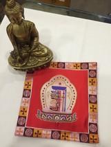 Tibetan Red Kalachakra  silk brocade table cover/altar cloth/shrine mat/... - $13.00