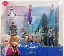 6 pc Disney Frozen Figurine Set Sven, Hans, Anna, Elsa, Kristoff, & Olaf... - $18.00
