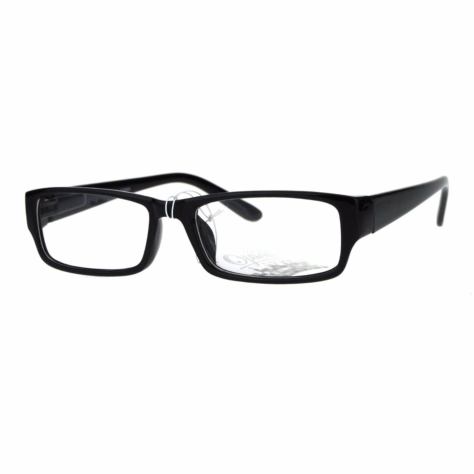 Clear Lens Glasses Classic Rectangular Frame Unisex Fashion Spring Hinge