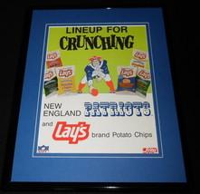 1989 Lay's Potato Chips / NE Patriots Framed 11x14 ORIGINAL Advertisement - $37.04