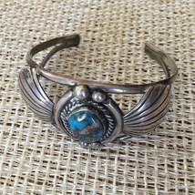 Vintage 1975 Handmade Signed Carson Blackgoat Sterling Silver Turquoise ... - $539.00