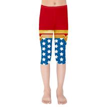Wonder Woman Super Hero Inspired Kids Capri Leggings - $35.99+