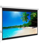 """100"""" 4:3 80"""" x 60"""" Viewing Area Motorized Projector Screen with Remote C... - $168.29"""