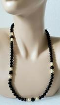 Women's Napier Black, White, & Gold Beaded Necklace - $11.99