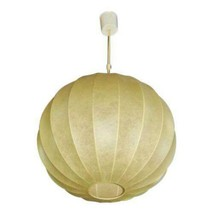 Rare Italian Modern Parchment Bubble Hanging Light Fixture Lamp Shade Ch... - $2,106.64