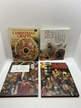 CHRISTMAS CRAFT BOOKS, LOT OF 4, BETTER HOMES & GARDENS, LEISURE ARTS, C... - $3.96