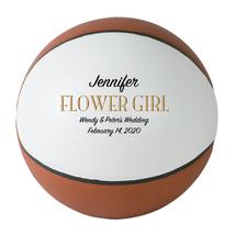 Flower Girl Regulation Basketball Wedding Gift - Personalized Wedding Favor - $59.95