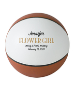 Flower Girl Regulation Basketball Wedding Gift - Personalized Wedding Favor - $59.95