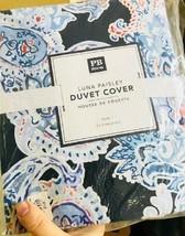 Pottery Barn Teen Luna Duvet Cover Twin Blue Paisley No Sham New - $54.50