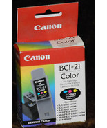 Canon BCI-21 Color Genuine New Ink Cartridge * Unused in box - $3.00