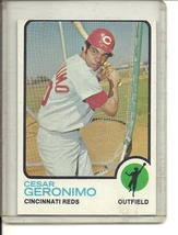 (b-31) 1973 Topps #156: Cesar Geronimo - Factory Error - Off-Set Cut - $5.00