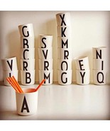 Interior Decor Letter Mug Kitchen Home Art Goods English Alphabet DIY Dr... - $8.99