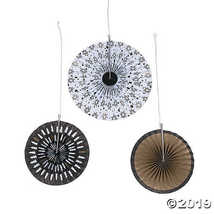 Bold Christmas Tissue Hanging Fans - $11.49