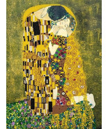 Bead Embroidery Craft Kit The Kiss by Klimt Classic Painting - $49.23