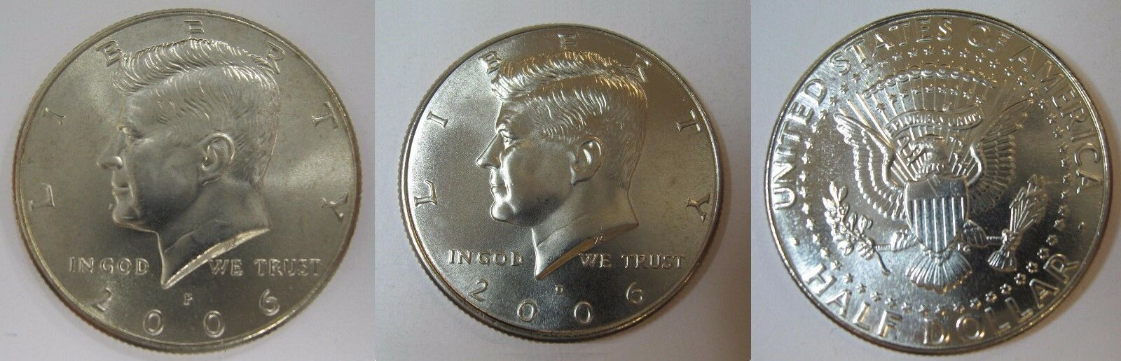 2006 P and D  BU Kennedy Half Dollar from US Mint Roll CP2434