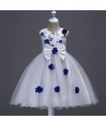 Off Shoulder Blue Flower Girls Dress 2018 Short Wedding Flower Girls Dre... - $36.22