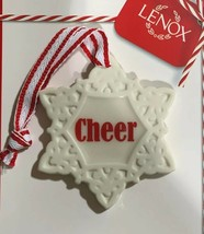 New Lenox Cheer Snowflake ornament Charm - $11.87