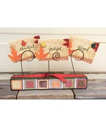 AG Designs Fall Decor - Thankful Grateful Blessed 3pc Set #7-7/7 - $13.95