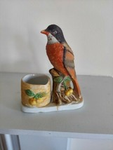 Vintage Jasco 1979 Fine Bisque Porcelain Luvkin Songbird Robin Bird - £4.63 GBP