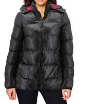 Women's Slim Fit Lightweight Zip Insulated Packable Puffer Hooded Jacket image 2
