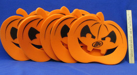 5 Halloween Miller Lite Pumpkin Decoration Hat Orange Foam Cut Outs Adve... - £8.26 GBP
