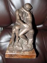 Bronze Sculpture Naked Couple Kissing 1994 Austin Proding Erotica - $200.00