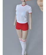 1/6 Scale Girl Student Sportwear Loose Tight Sport Clothing Sets 12 PH Body - £17.46 GBP+