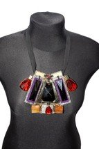 Oscar De La Renta Signed Multi Color Crystals Beaded Necklace Fashion Pe... - $326.94