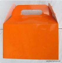 ORANGE Party Supplies BOXES Birthday Decoration GABLE Loots x12 Bag Good... - $12.82
