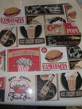 CUSTOM Ceiling Fan RETRO 50's Diner Menu Items Burgers Fries Popcorn - $99.99