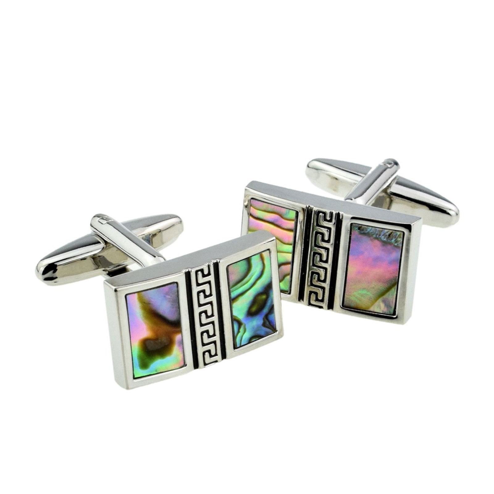 Abalone Shell Vertical Split Design with Feature Styling Cufflinks in gift box