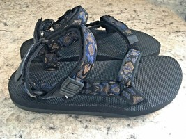 TEVA ORIGINAL Hiking MENS SANDALS Black Blue Mosaic US Mens 8 Womens 9/10 - $78.25 CAD