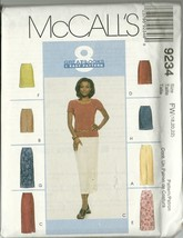 McCall's Sewing Pattern 9234 Misses Womens Skirt In 2 Lengths Sz 18 20 2... - $6.99