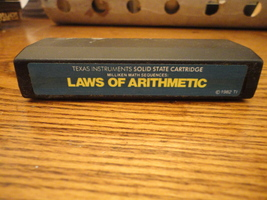 TI 99/4A Laws of Arithmetic tested cartridge math software Milliken 1982  - $7.99