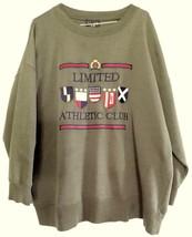 Vintage LIMITED JEANS ATHLETIC CLUB American FLAG Sweatshirt Men Women G... - $34.65