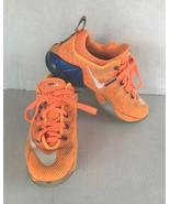 Nike Lebron XII Lows 5.5Y Bright Citrus White Orange Royal Blue Cavs Ten... - $19.60