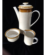 Vintage Mikasa Stone Manor F5800 Tea Coffee Pot with Sugar and Creamer Set - $30.00