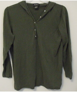 Womens Eddie Bauer Olive Green Long Sleeve Hooded Top Size Large Tall - $9.95