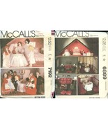 McCall's Patterns 7192 6889 Victorian Doll Dolls House Family Wardrobe F... - $19.99