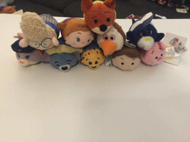 "Disney TSUM TSUM 3.5"" Mini Plush Lot 10 ct Frozen Zootopia Nemo (2) - $34.64"