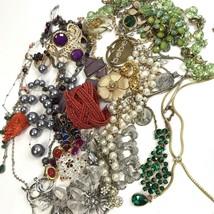 Costume Jewelry Lot Boho Mod Vtg To Modern Rhinestone Purple Red Green - $34.65