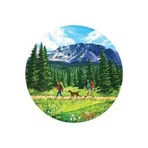 Sticker Art Hit The Trail Backpacking, Mountain Tough Outdoor Stickers, Waterpro