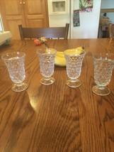 Set Of 4 Fostoria American Juice Glasses 4 3/4 Beautiful Stem Ware - $27.75
