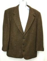 LL Bean Mens Brown Wool Blend Blazer Jacket Thinsulate Insulation Size 44R - $75.99