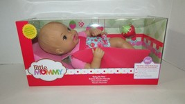 Fisher Price Baby So New Doll Little Mommy pink blue floral strawberry outfit  - $24.74