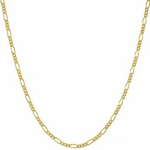 "24"" Figaro Chain 1.5mm - up to 20X More 24k Gold Plating Than Other Pendant - $59.95"