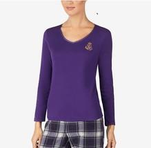 Lauren Ralph Lauren Pajama Knit Top LN71665F Purple XL - $27.08